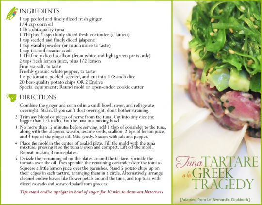 asian tuna tartare | Stephanie Klein Greek Tragedy
