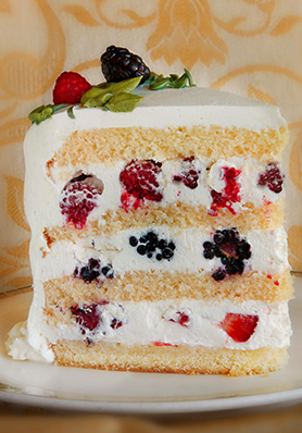 Sweet Lady Jane Berry Cake
