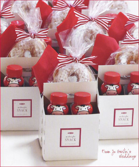Wedding Thank You Gifts For Guests In South Africa : Midnight Snack packs for guests from Jo Gartins Weddings )