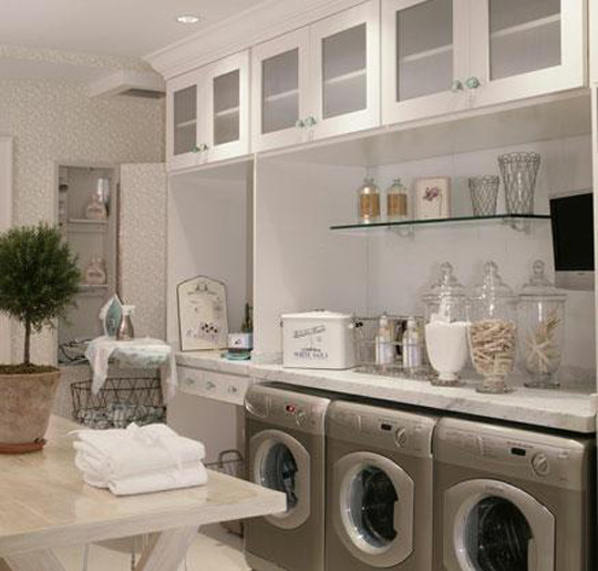 staged laundry room