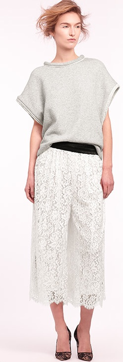 Lace Culotte Pants