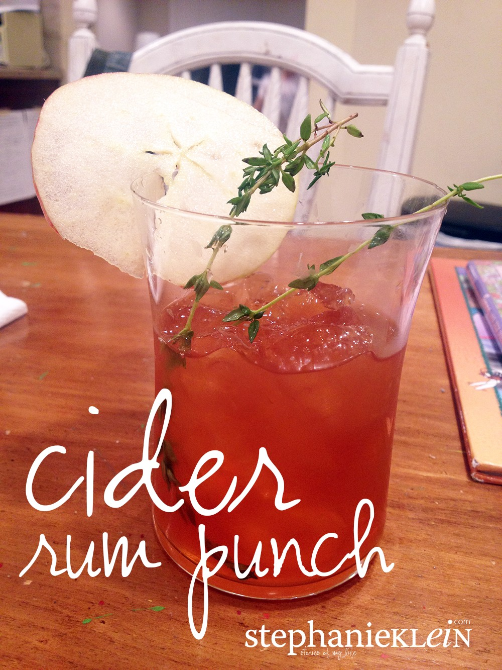 Cider Rum Punch with Thyme Syrup