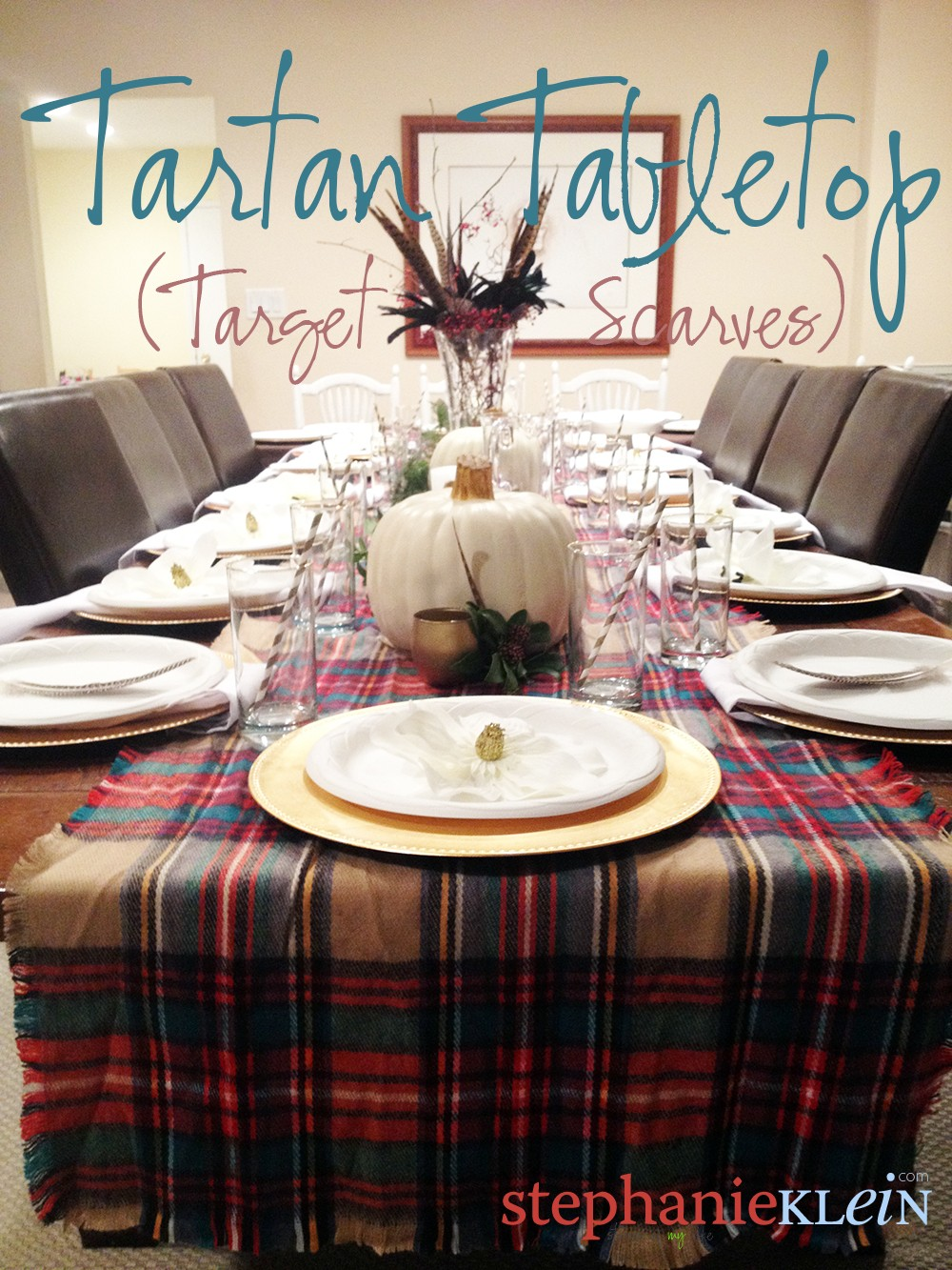 """Featured image for """"tartan thanksgiving tabletop"""""""