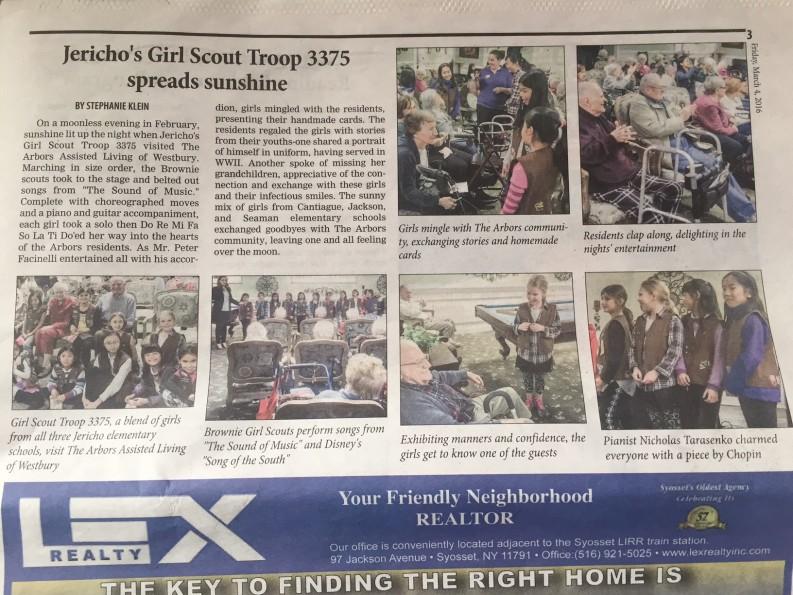 Girl Scouts Spread Sunshine