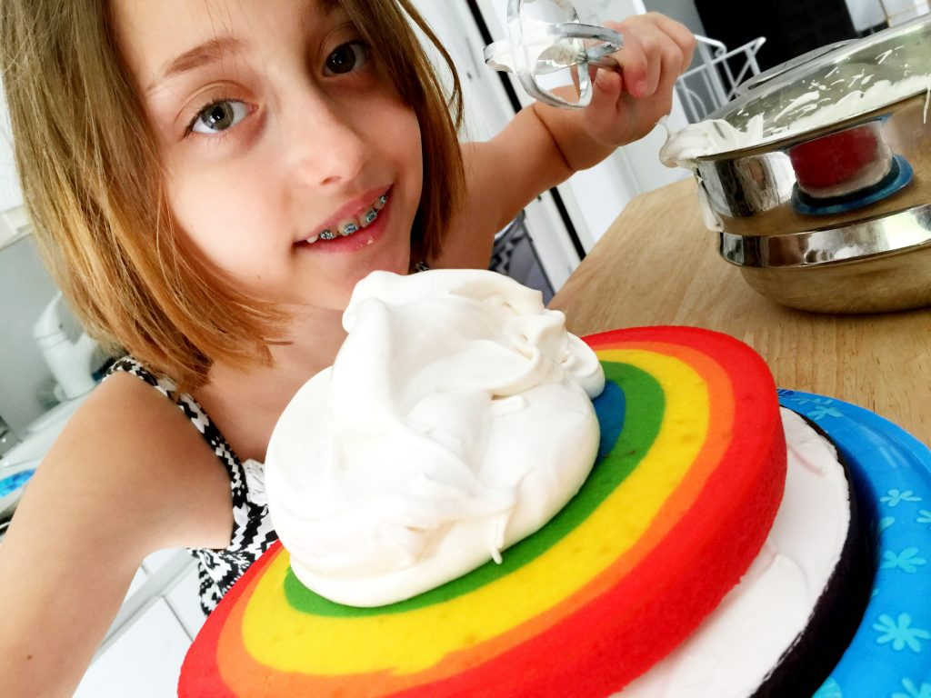 Rainbow Cloud Cake #bridging #girlscouts