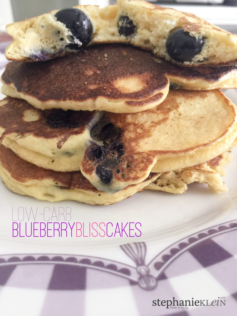Low-Carb Blueberry Pancakes